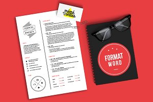 Montmots - Resume template Word