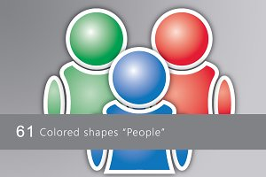 "61 Colored icons ""People"""