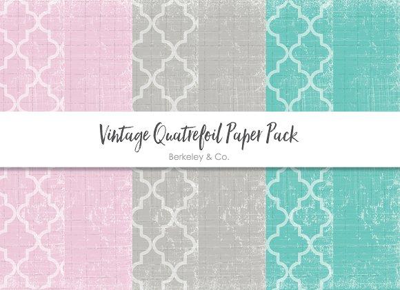 Vintage Quatrefoil Paper Pack