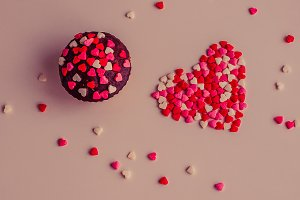 Cupcakes with heart