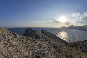 Sun over the coastal mountains