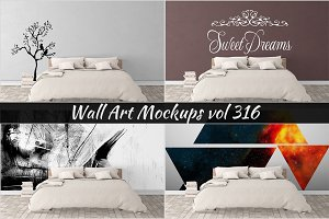 Wall Mockup - Sticker Mockup Vol 316