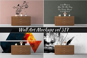Wall Mockup - Sticker Mockup Vol 317
