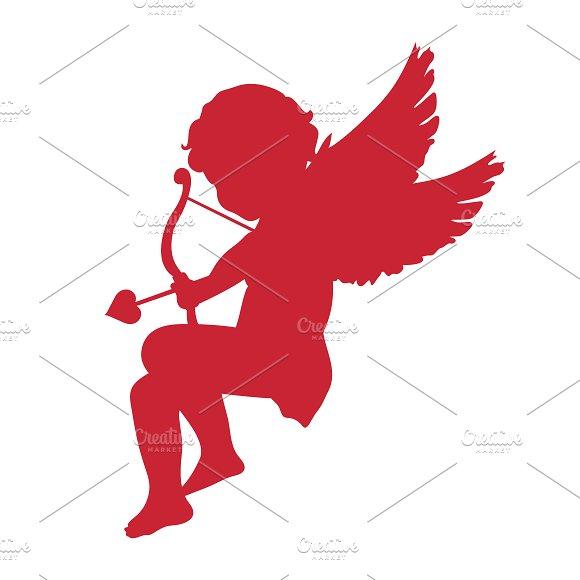 Cupid Icon Valentine S Day Concept Illustrations Creative Market