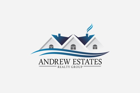 real estate logo v3 logo templates creative market