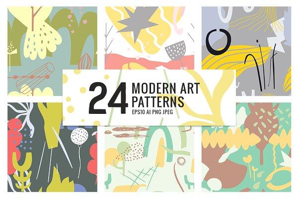24 MODERN ART PATTERNS