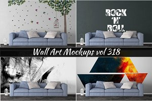 Wall Mockup - Sticker Mockup Vol 318