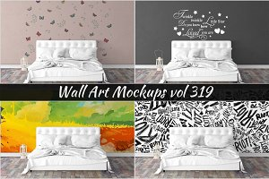 Wall Mockup - Sticker Mockup Vol 319
