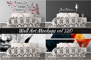 Wall Mockup - Sticker Mockup Vol 320