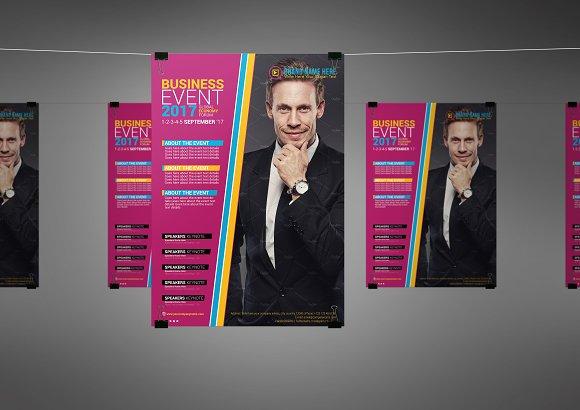 business event flyer template flyer templates creative market