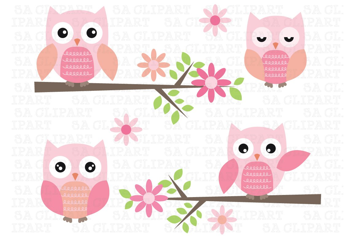 Cute Owl Clipart ~ Illustrations ~ Creative Market