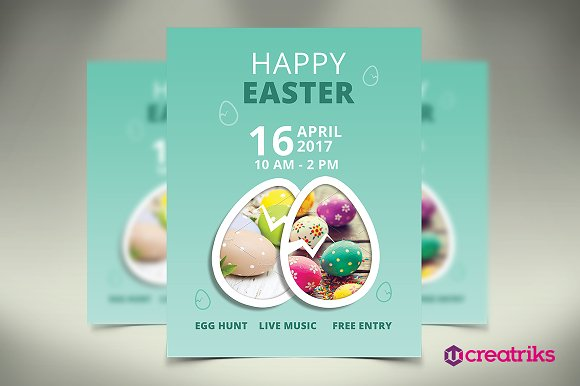 Happy Easter Flyer Flyer Templates on Creative Market – Easter Flyer Template
