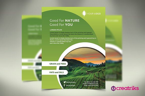 agriculture flyer flyer templates creative market