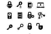 Key and locks icons