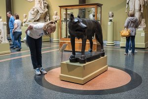 Moscow, Russia - May 03, 2016: Capitoline Wolf in Pushkin State Museum of Fine Arts
