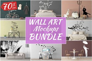 Wall Art Mockups BUNDLE V23