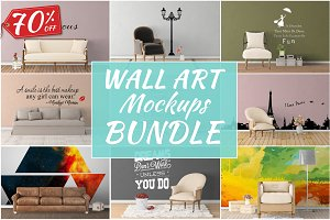 Wall Art Mockups BUNDLE V24