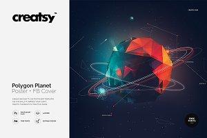 Polygon Planet Poster