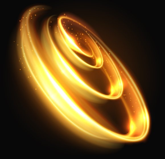 Gold Light Swirl Background