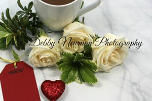 Valentine Coffee and Roses