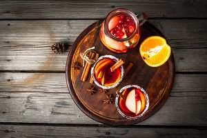 Fragrant autumn and winter sangria