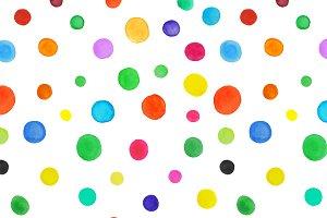 Watercolor spots seamless