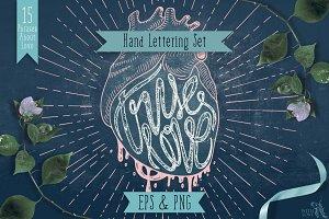 True Love Hand Lettering Set