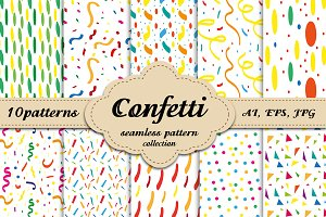 Confetti, modern pattern collection