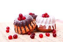 Sweet fresh desert cakes