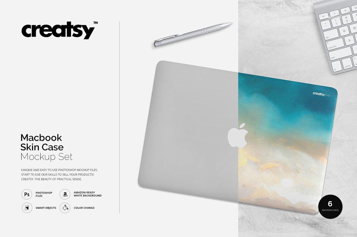 Macbook Skin Case Mockup ~ Product Mockups ~ Creative Market