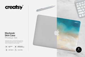 Macbook Skin Case Mockup
