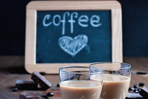 Homemade baileys, coffee liqueur