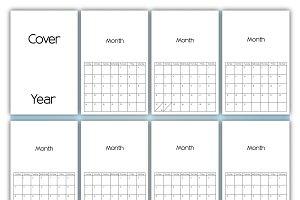 Fully Editable Calendar Months