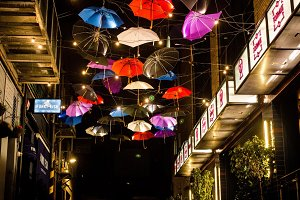 Floating Umbrellas of Colours