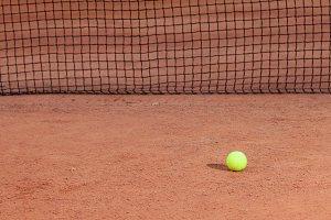 Tennis ball lying