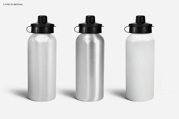 bae17d18ee18f Aluminium Water Bottle 2 Mockup Set