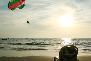 Summer parasailing