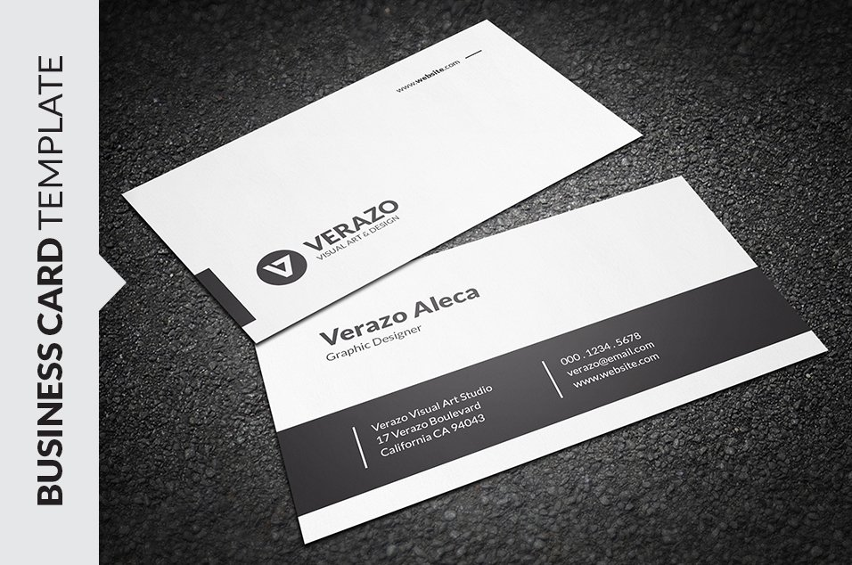 Modern Minimalist Business Card ~ Business Card Templates ~ Creative ...