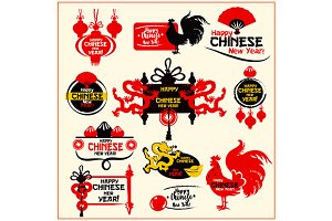 Chinese New Year badges