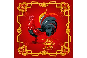 Chinese New Year festive rooster