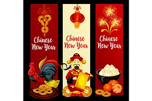 Chinese New Year festive banners