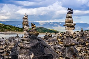 Stack of stones in Norway