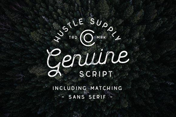 Genuine Script Textured Type Duo