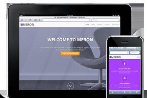 MERON - One Page Theme