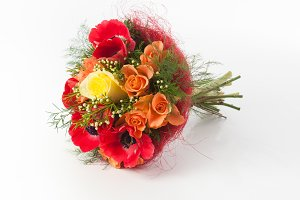 Flowers bouquet with anemone