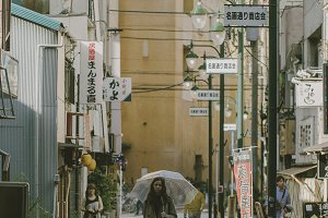 Girl adventuring Tokyo streets