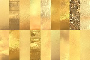 Gold foil textures and backgrounds