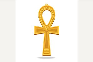 Golden Ankh Egyptian Cross.