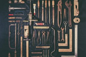 Old and rusty tools