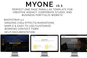 MYONE - One Page Parallax Template
